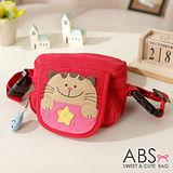 ABS貝斯貓 可愛貓咪手工拼布小型側背包/零錢包(活力紅)88-046