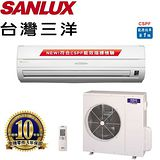 SANLUX台灣三洋 8-10坪(精品型)分離式一對一冷專變頻冷氣 SAC/E-50V6