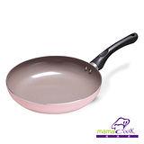 【Mama Cook】綻粉陶瓷不沾鍋具組-平底鍋(24 cm)-無蓋