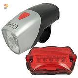 月陽自行車防水7段車尾燈6LED頭燈組(FF-301)