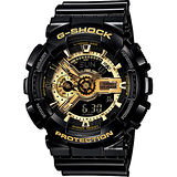 CASIO 卡西歐 G-SHOCK 黑金重機雙顯錶 GA-110GB-1ADR