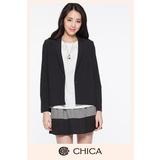 CHICA 簡約西裝外套-黑色