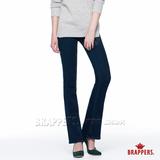 BRAPPERS 女款 新美腳Royal系列-女用中腰彈性鑲鑽小喇叭褲-藍