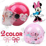 迪士尼米妮【兒童安全帽】│復古騎士安全帽│正版授權│台灣製造│半罩式