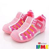 IFME健康機能鞋-透氣速乾款-601422粉-(15cm-18cm)