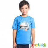 bossini男童-速乾短袖圓領衫16藍
