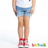 bossini女童-牛仔短褲04淡靛藍