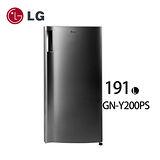 LG樂金 單門時尚小冰箱/191公升 (GN-Y200PS) 含基本安裝