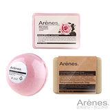 Arenes熱銷植萃水嫩皂球明星組(青皂+玫皂+紅球)