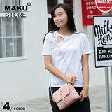 【MAKU STORE】新款復古磨砂簡約百搭迷你側背小包-粉色