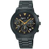 【agnes b.】法式時尚世界地圖計時腕錶(39mm/VD53-KQ00F/BT3020X1)