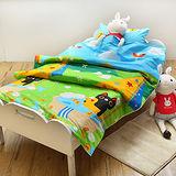 義大利Fancy Belle X Malis《大自然的淋浴》兒童純棉防蹣抗菌兩用被枕頭2件組