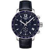 【TISSOT 天梭】T-Sport 都會時尚運動三眼計時腕錶(42mm/T0954171604700)