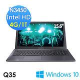 GIGABYTE技嘉 Q35 15.6吋/N3450/WIN10 筆電
