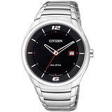 CITIZEN Eco-Drive 光動能簡約時尚腕錶-黑面-BM6951-57E