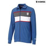 K-Swiss Zip Up Jacket休閒運動外套-男-寶藍
