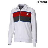 K-Swiss Zip Up Jacket休閒運動外套-男-白