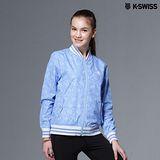 【K-Swiss】Allover Print Windbreaker休閒風衣外套-女-天空藍