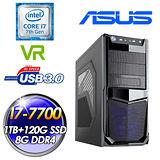 ASUS華碩Z270平台 炙熱奇兵III(I7-7700/1TB HDD+120G SSD/8G D4/550W大供電)高效主機
