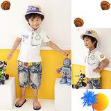 ☆寶拉兔☆ 韓流 航海風 海盜寶藏雙面設計 POLO棉衫 白 BT02