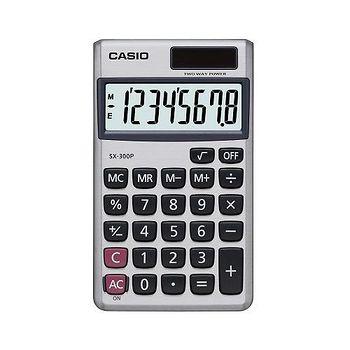 CASIO卡西歐 CASIO卡西歐?8位數雙電源輕薄攜帶型商務計算機-- SX-300P