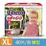 【麗貝樂】敢動褲6號-XL 超薄型 (40片x3包)