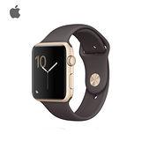 Apple Watch Series 2 42mm 太空灰色鋁金屬錶殼搭配可可色運動型錶帶-加贈德國液態玻璃鍍膜+保護貼
