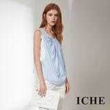 ICHE 衣哲 設計款空氣感假兩件拼接造型上衣