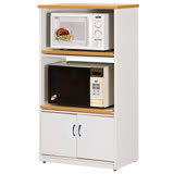 《AB》防水塑鋼2.2尺餐櫃/電器櫃-雙層(純白色)