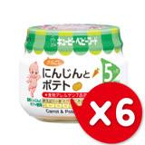 ✪日本KEWPIE M-53胡蘿蔔馬鈴薯泥✪70gX6