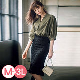 日本ANNA LUNA 預購-時尚泡泡袖造型襯衫(共三色/M-3L)