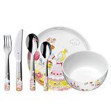WMF 公主兒童餐具組6入 不鏽鋼 湯匙 餐叉 餐刀 餐碗 餐盤