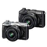 Canon EOS M6 15-45mm F3.5-6.3 IS STM(公司貨)-送32G記憶卡+清潔組+保護貼