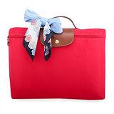 Longchamp 短提把(拉鍊式)手提公事包-紅色