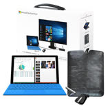 Microsoft Surface Pro 4 商務特仕包(12.3吋/Core i5/4G/128G/W10P)-【送原廠鍵盤+Office 365個人版+ARC滑鼠+皮套+Pro4充電器+保貼】