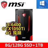 微星 Nightblade MI2-GH582 i5-6400/8G/128G SSD+1TB/GTX1050TI 4GB/DVD/WIN10