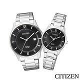 CITIZEN星辰 極致簡約時尚情人對錶 BD0041-89E+ER0201-81E