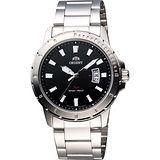 ORIENT SP極速運動石英腕錶-黑/41mm FUNE2005B