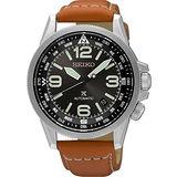 SEIKO精工 Prospex 天空系列機械腕錶-黑x咖啡/42mm 4R35-01N0J(SRPA75J1)