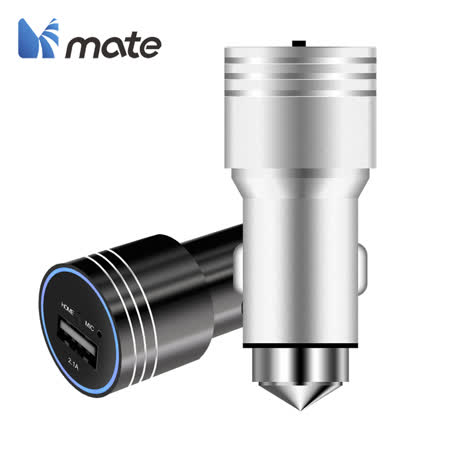 【Mate】2.1A藍牙音樂車充-黑 -friDay購物 x GoHappy
