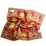 【Vivienne Westwood】水玉小熊LOGO帕巾-紅