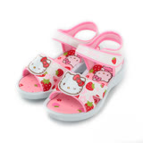 (中大童) HELLO KITTY 草莓大頭涼鞋 白 童鞋 鞋全家福