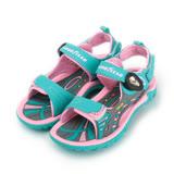 (大童) GOODYEAR 磁釦運動涼拖鞋 藍粉 童鞋 鞋全家福