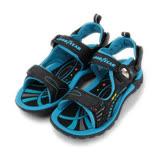 (大童) GOODYEAR 磁釦運動涼拖鞋 藍 童鞋 鞋全家福