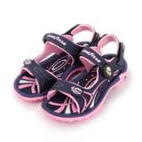 (大童) GOODYEAR 磁釦兩穿運動涼拖鞋 紫 童鞋 鞋全家福