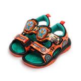 (中大童) 機器戰士 電燈涼鞋 橘 TOKT66015 童鞋 鞋全家福