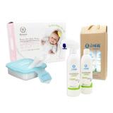 【BabyTiger虎兒寶】立可適 抗菌噴劑(250ml) 禮盒組 + 柔仕 乾濕兩用布巾 160片 + 矽膠抽取盒(3色)