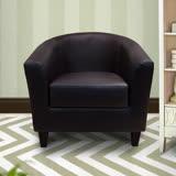 漢妮Hampton莫里斯皮面休閒椅-棕色(深咖啡色腳)/單人沙發/主人椅/椅子