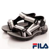 FILA頂級童鞋-運動休閒涼鞋-S431R-401黑灰-(18-24cm)