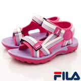 FILA頂級童鞋-運動休閒涼鞋-S431R-291桃紫-(18-24cm)